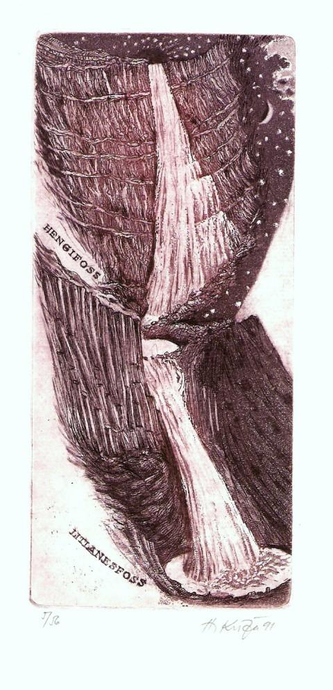 Kisza Herbert - Litlanesfoss - Grafika