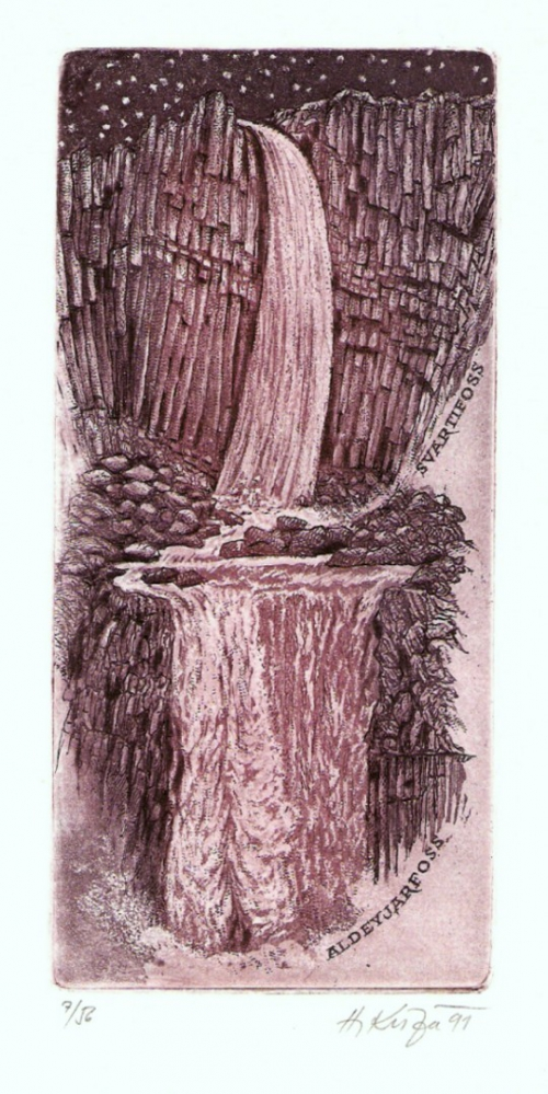 Kisza Herbert - Aldeyjarfoss - Grafika