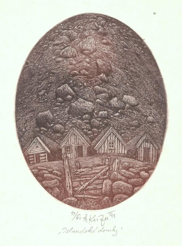 Kisza Herbert - Icelandic Houses - Print