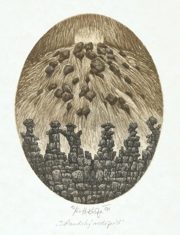 Kisza Herbert - Islandský vodopád - Grafika