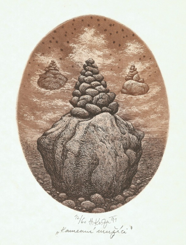 Kisza Herbert - Kamenní mužíci - Grafika