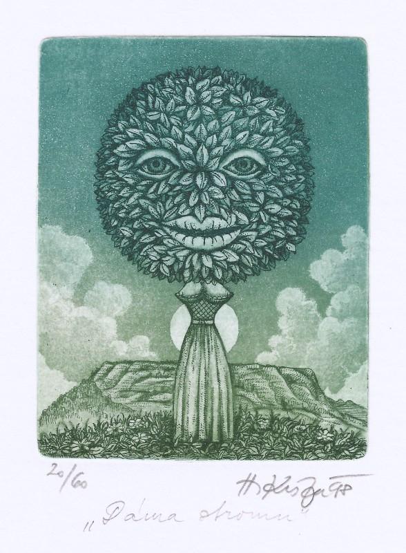 Kisza Herbert - Dáma stromu - Grafika