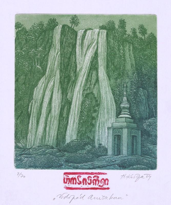 Kisza Herbert - Vodopád Anisakan - Grafika