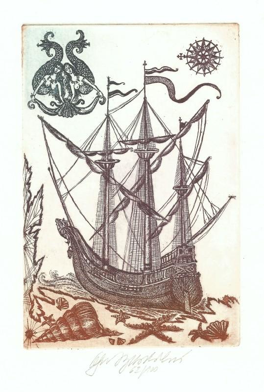 Vychodilová Olga - Loď s mořskými pannami - Print