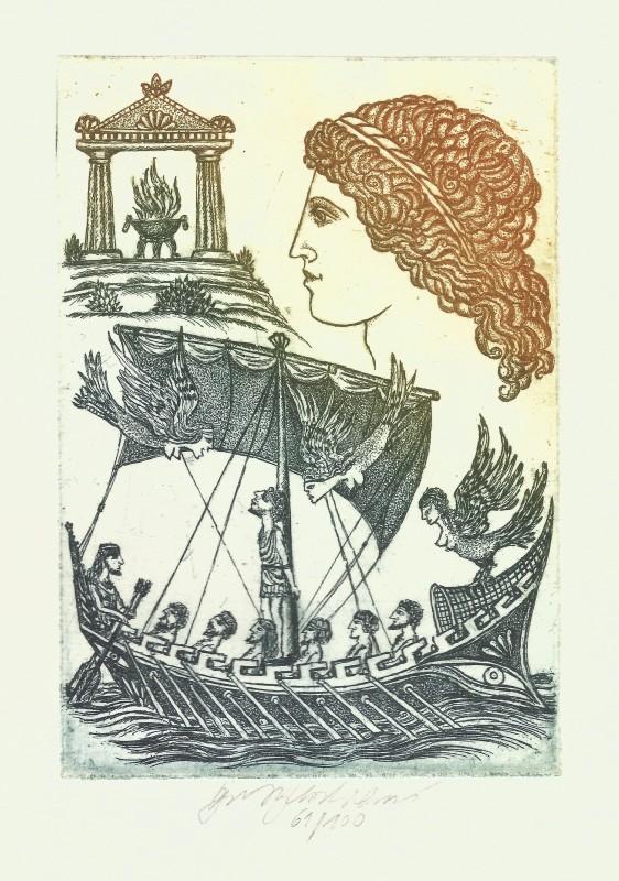 Vychodilová Olga - Ulysses and the Sirens - Print