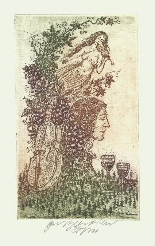 Vychodilová Olga - Vinařský motiv - Grafika