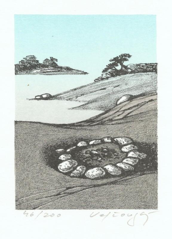 Velčovský Josef - Campfire - Print