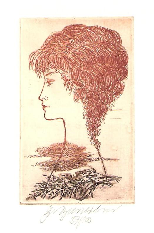 Vychodilová Olga - Girl's Profile - Print