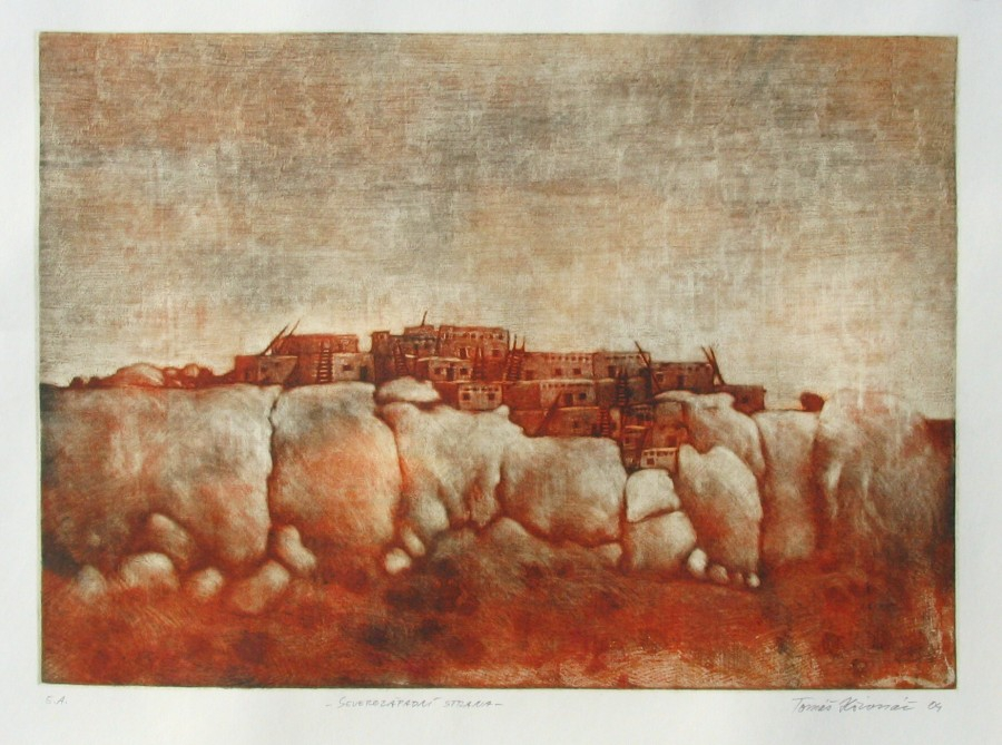 Hřivnáč Tomáš - Northwest Point – Pueblo - Print