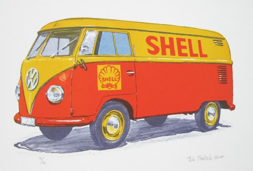 Ptáček Petr - Volkswagen T1- Shell - Grafika