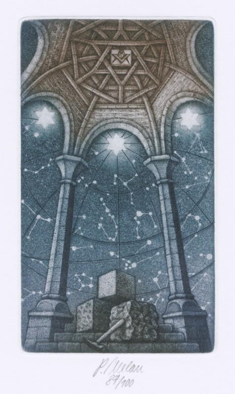 Melan Petr - Stavba chrámu - Grafika
