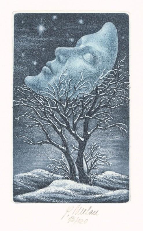 Melan Petr - Měsíc - Grafika
