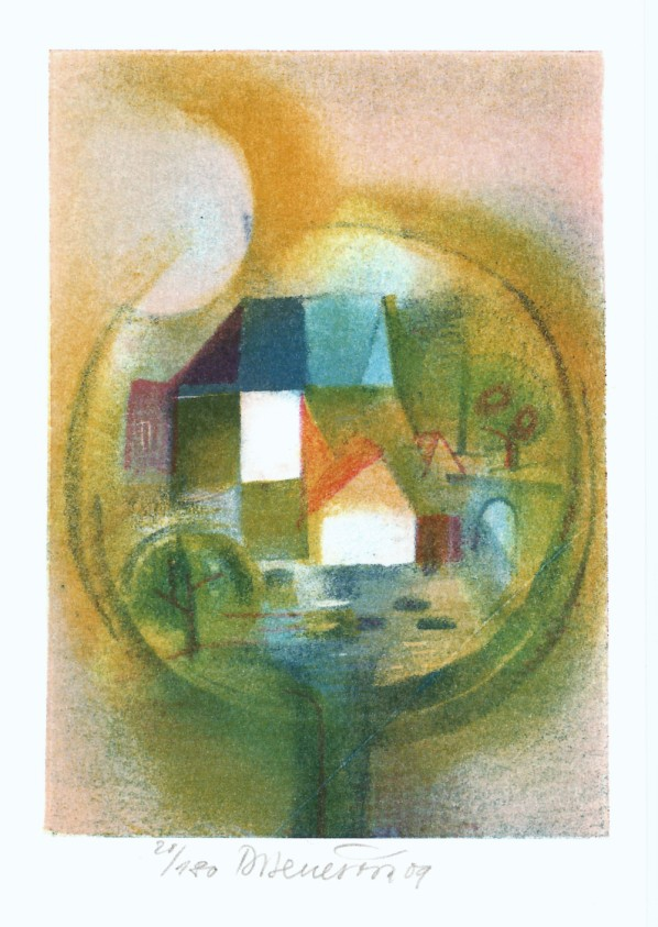 Benešová Daniela - Small Village - Print