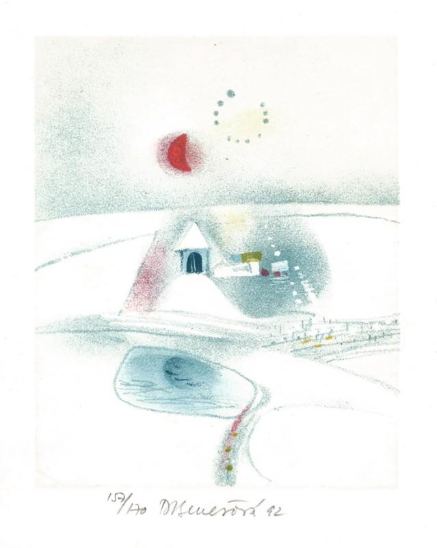 Benešová Daniela - White Landscape - Print