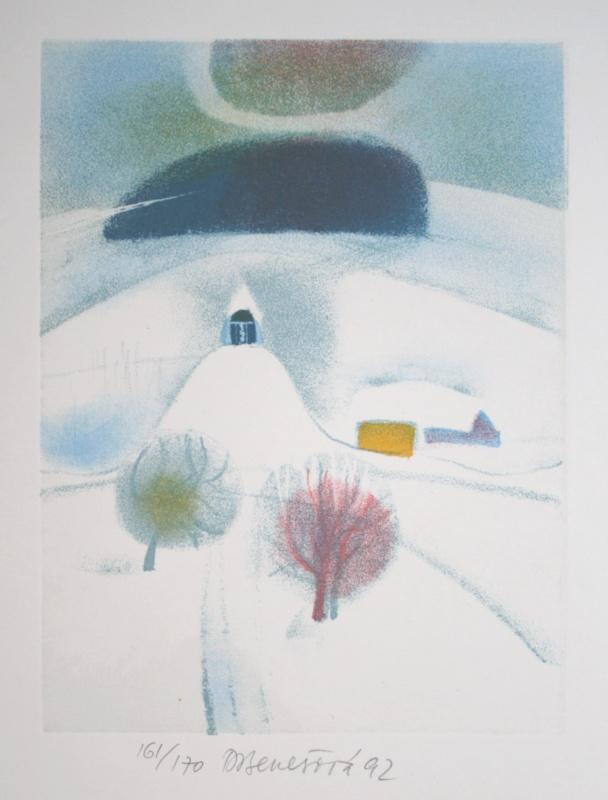 Benešová Daniela - Small Chapel in Winter - Print