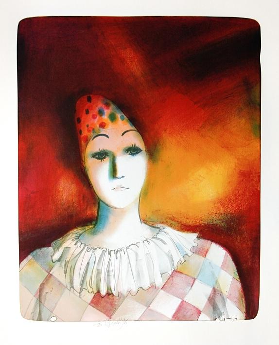 Beneš Karel - Clown's Head - Print