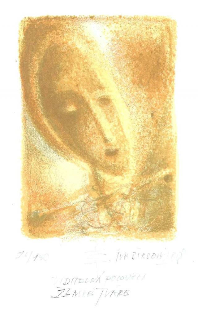 Štrbová Jarošová Iva - Visible Half of a Woman's Face - Print