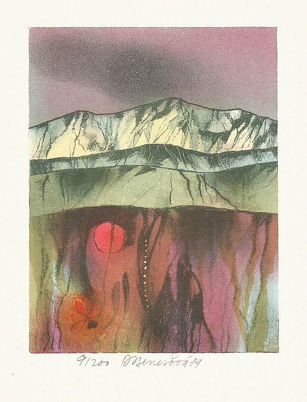 Benešová Daniela - Among the Rocks - Print