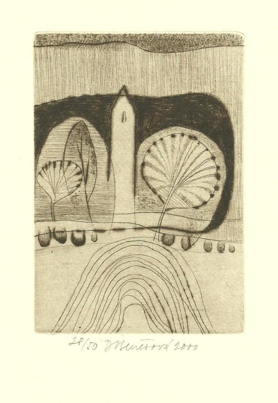 Benešová Daniela - Bílá věž - Grafika