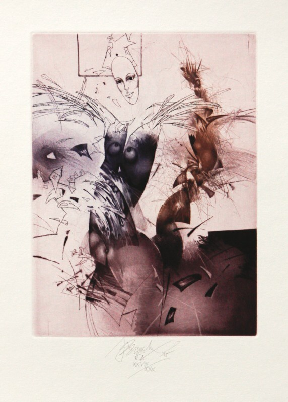 Brázda Jiří - Angel with Broken Wings - Print