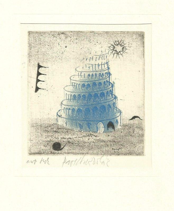 Sukdolák Pavel - Babylonská věž - Grafika