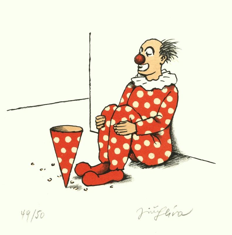Slíva Jiří - Begging Clown - Print