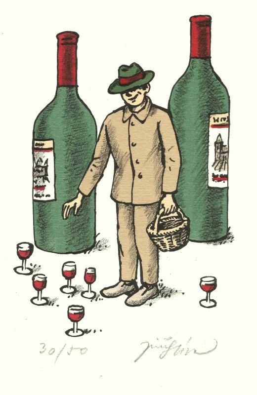 Slíva Jiří - Wine Picker - Print