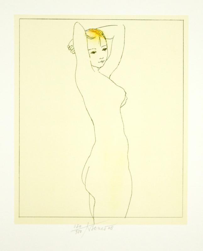 Beneš Karel - A Girl's Nude - Print