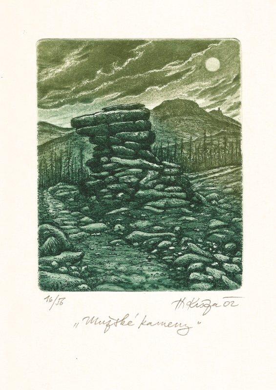 Kisza Herbert - Mužské kameny - Grafika