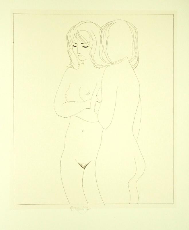 Beneš Karel - Two Girls - Print