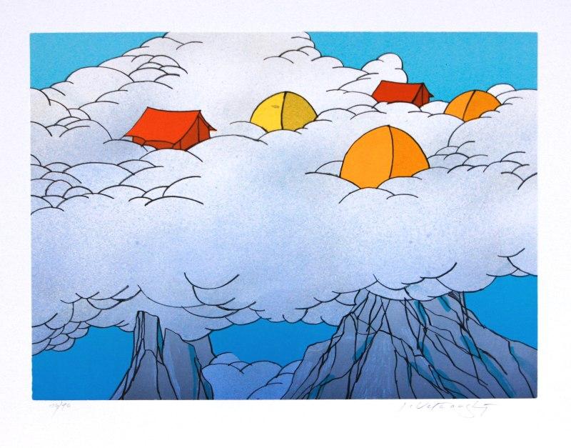 Velčovský Josef - Vysoko v oblacích - Grafika