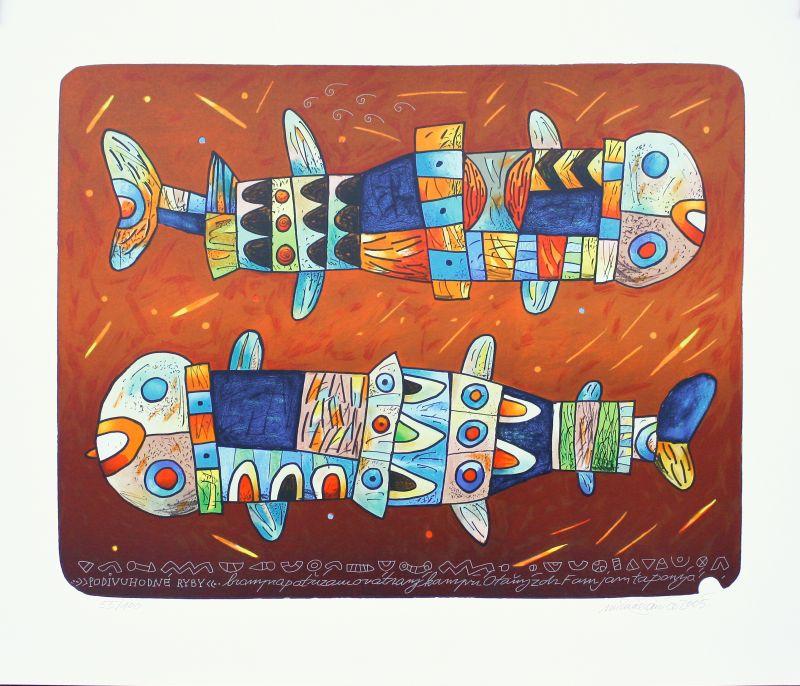 Halva Michal - Podivuhodné ryby  - Grafika