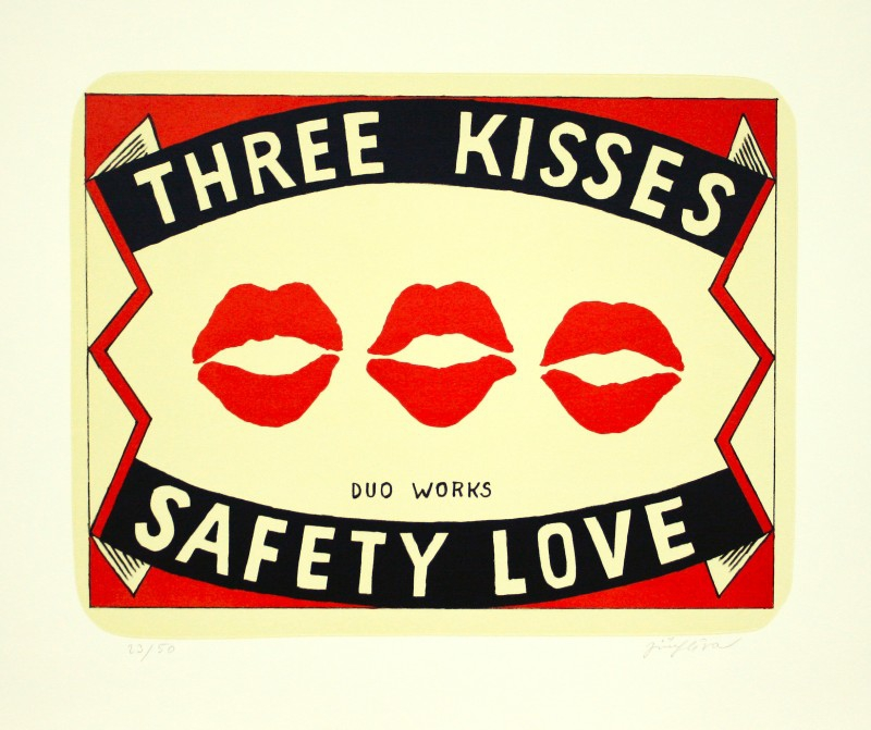 Slíva Jiří - Three Kisses  - Grafika