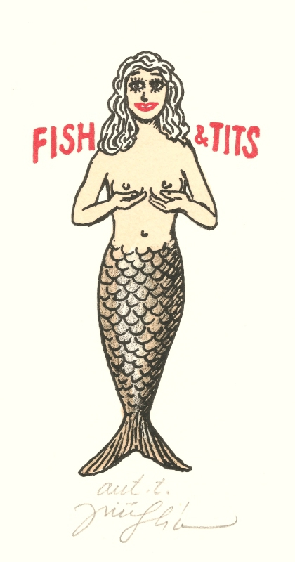 Slíva Jiří - Fish & Tits  - Print