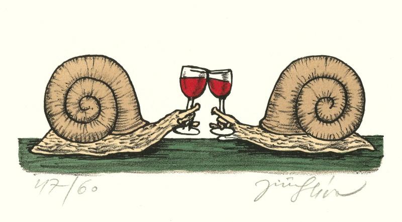 Slíva Jiří - Snails Toasting - Print
