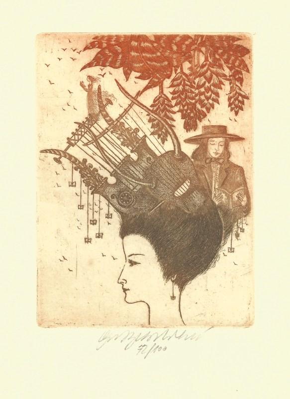 Vychodilová Olga - Múzy – Poesie  - Grafika
