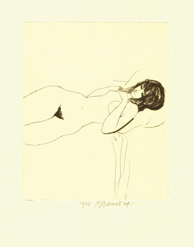 Beneš Karel - A Nude - Print