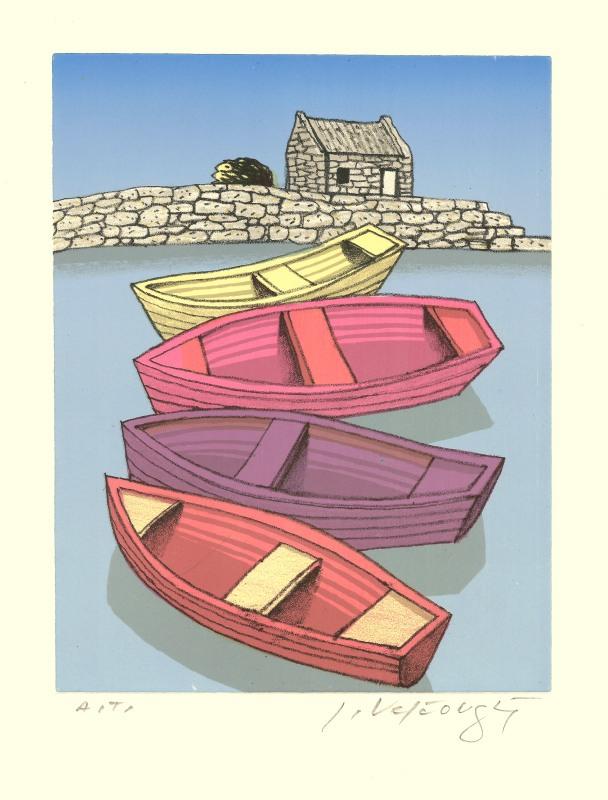 Velčovský Josef - Four Boats - Print