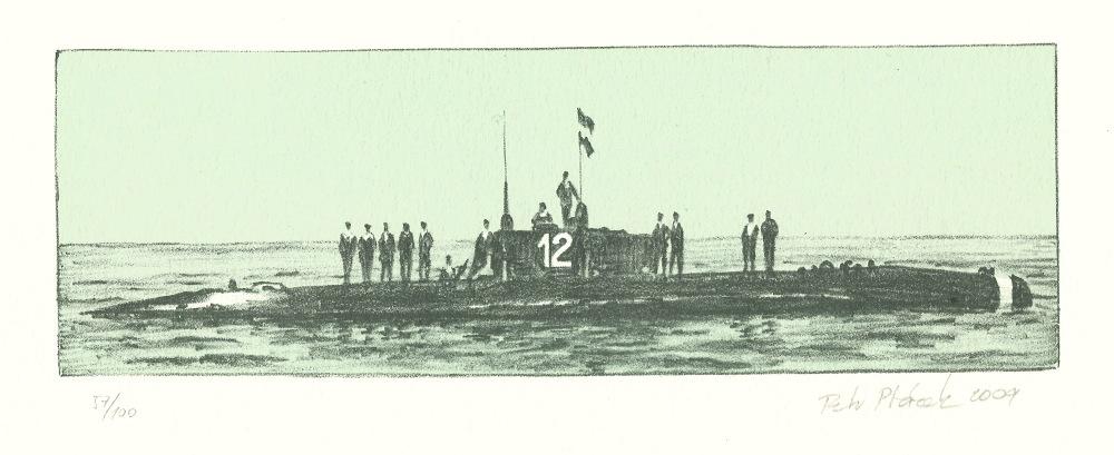Ptáček Petr - Rakousko-uherská ponorka  - Print
