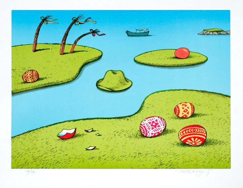 Velčovský Josef - Velikonoční ostrovy - Print