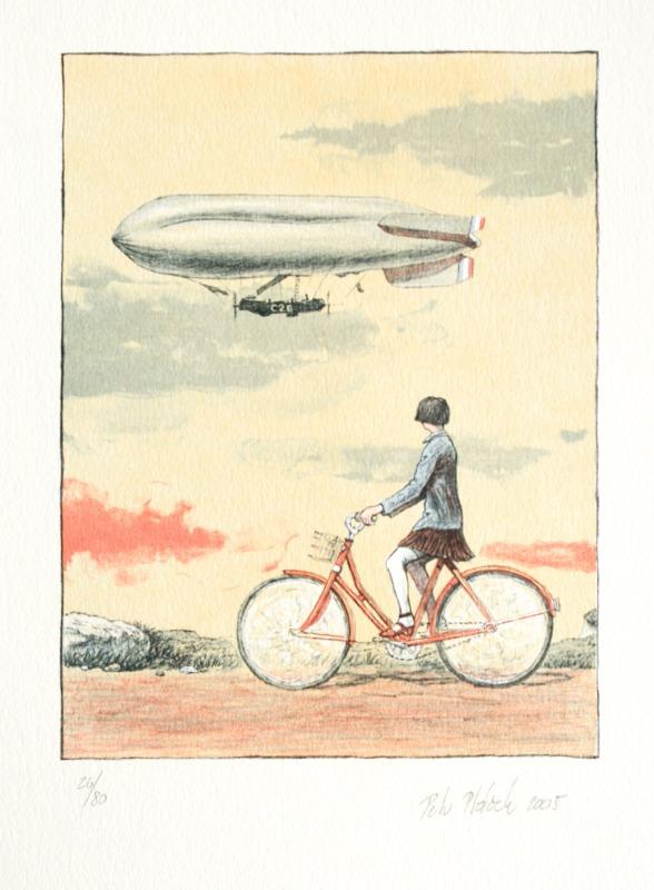 Ptáček Petr - Dívka a vzducholoď  - Grafika