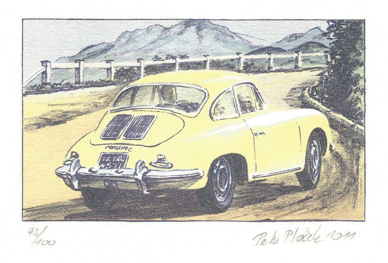 Ptáček Petr - Porsche 911 - Grafika