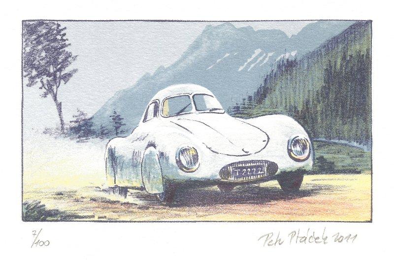 Ptáček Petr - Porsche typ 64  - Grafika