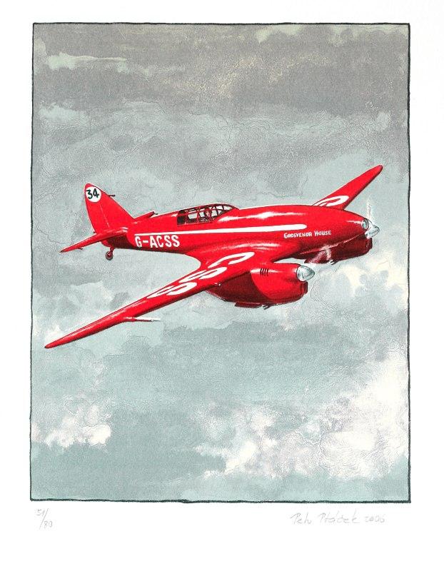 "Ptáček Petr - De Havilland ""Comet""  - Grafika"