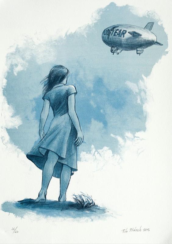 Ptáček Petr - Ve větru - Print