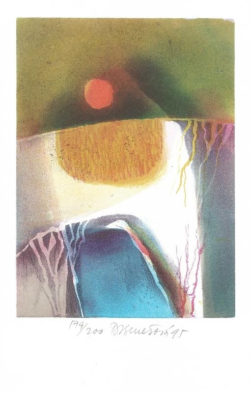Benešová Daniela - Slunce a Země - Print