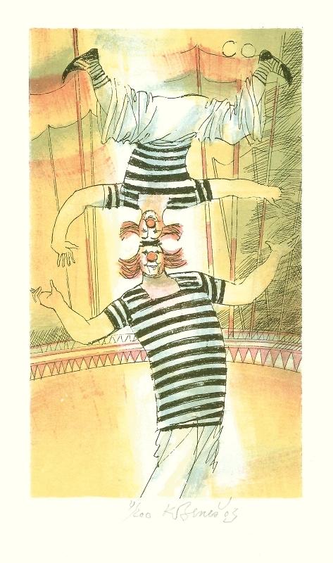 Beneš Karel - Dva klauni - Print