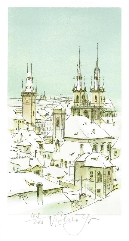 Beneš Karel - Praha – Staroměstské věže  - Print