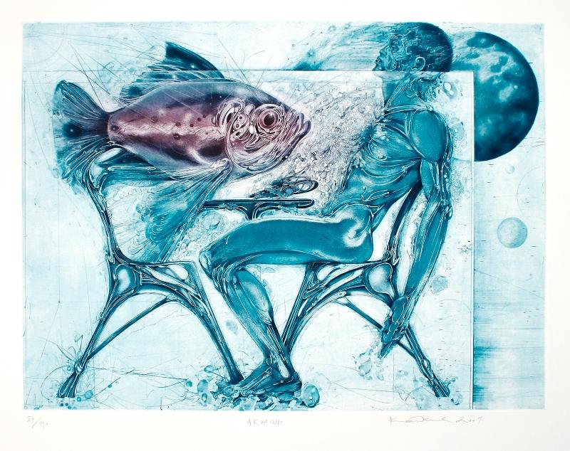 Demel Karel - Akvarium - Print