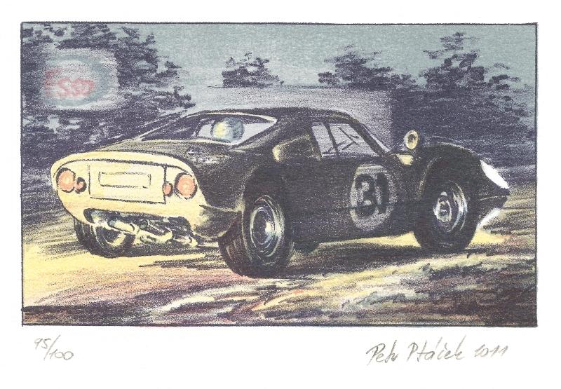 Ptáček Petr - Porsche 904  - Grafika